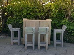 Maatwerk tuinmeubilair - Bar - Barkrukken