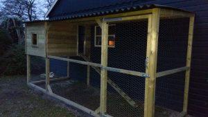 Maatwerk kippenhok - Kippenhok op maat - Nachtverblijf en ren kippen