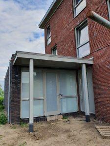 Luxe deurluifel met spots - Handgemaakte luifel voordeur