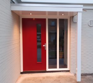 Deurluifel op maat gemaakt - Luifel boven de deur - Luxe deurluifel met spots - Handgemaakte luifel voordeur